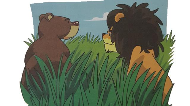 Singa Dan Beruang Yang Tak Mau Berbagi (Afrika)