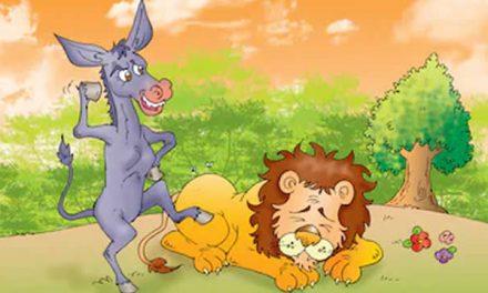 Singa dan Keledai Yang Sok Hebat