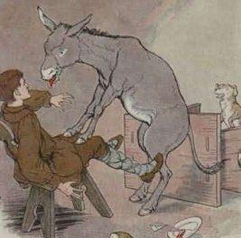 Keledai Bodoh dan Anjing Kesayangan Tuannya
